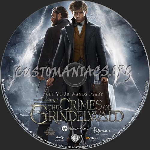 Fantastic Beasts The Crimes Of Grindelwald blu-ray label