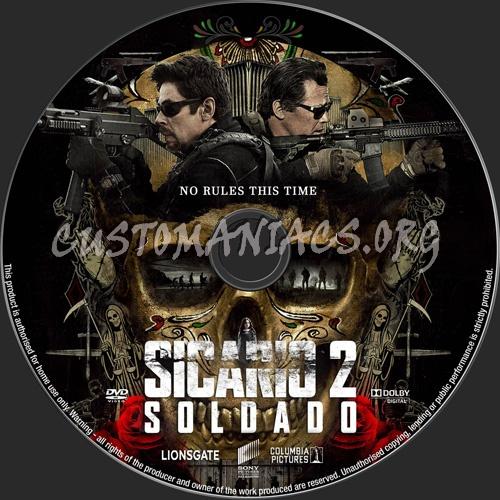 Sicario 2 Soldado dvd label