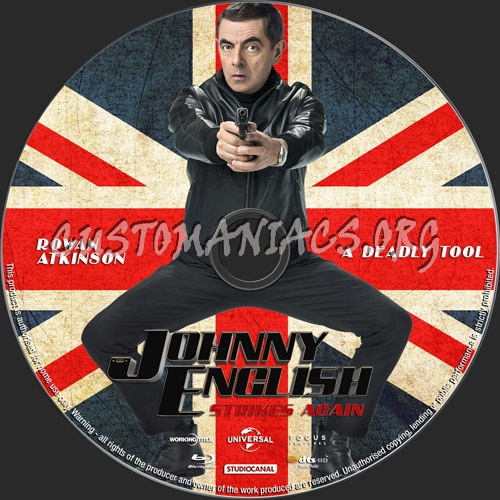 Johnny English Strikes Again blu-ray label