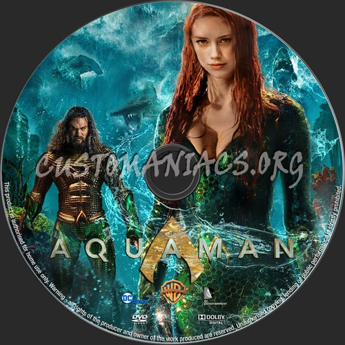Aquaman 2018 dvd label