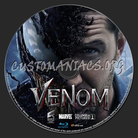 Venom (2018) blu-ray label