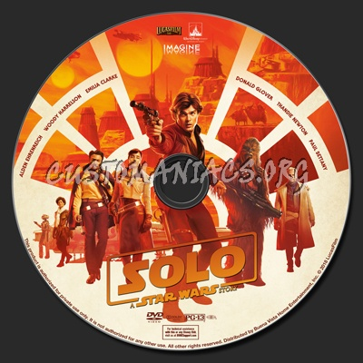 Solo: A Star Wars Story dvd label