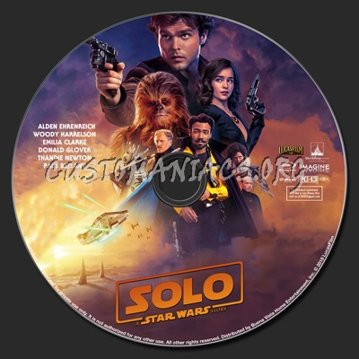 Solo: A Star Wars Story (2D & 3D) blu-ray label