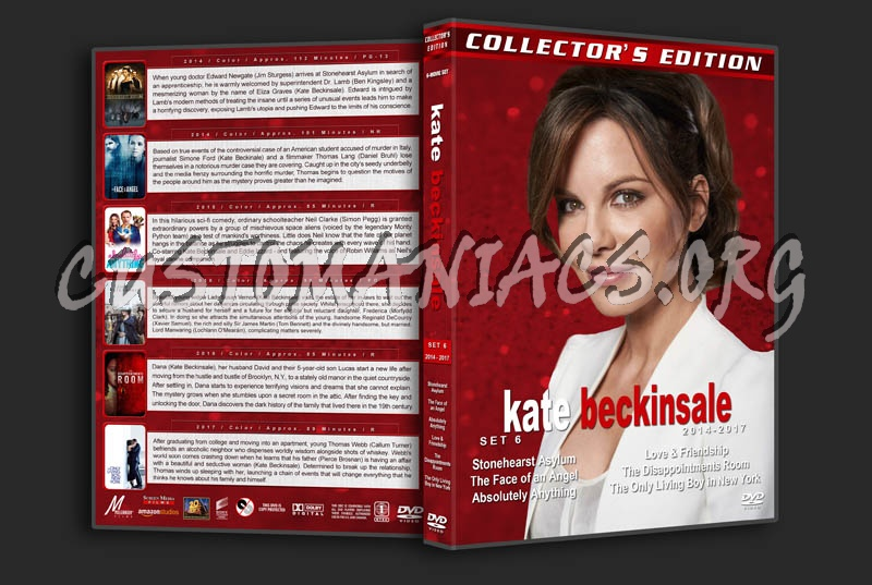 Kate Beckinsale Film Collection - Set 6 (2014-2017) dvd cover
