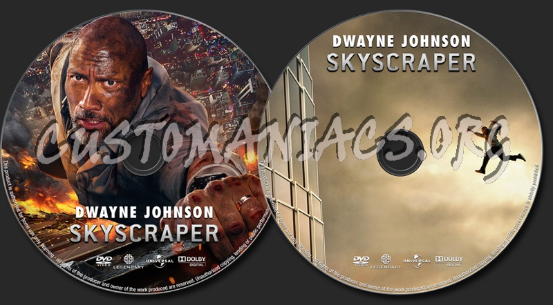 Skyscraper (2018) dvd label