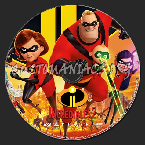 Incredibles 2 (2018) dvd label