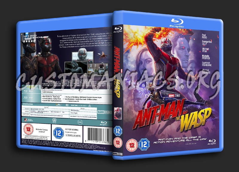 Ant Man And The Wasp (2018) blu-ray cover