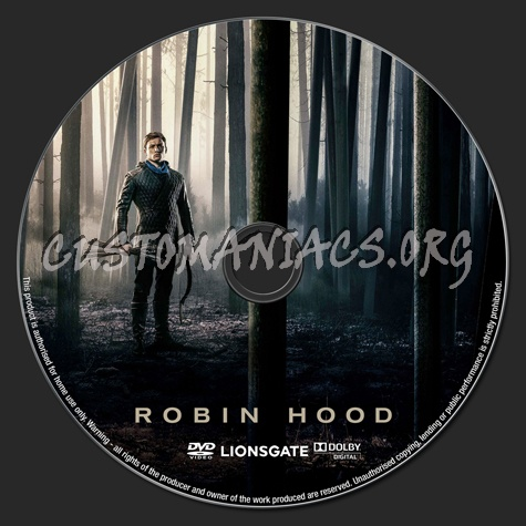Robin Hood (2018) dvd label