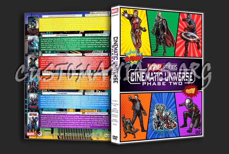 Marvel Studios Cinematic Universe - Phase Two dvd cover