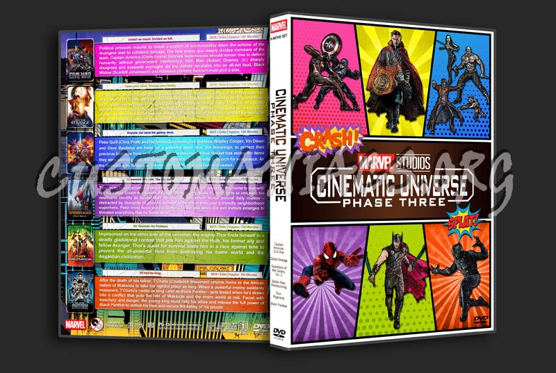 Marvel Studios Cinematic Universe - Phase Three dvd cover