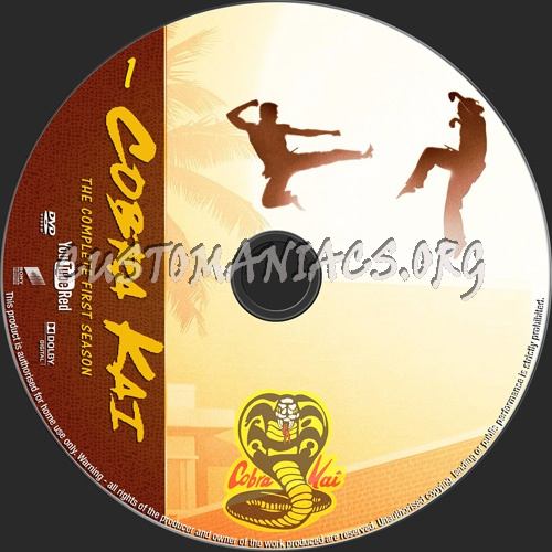 Cobra Kai season 1 dvd label