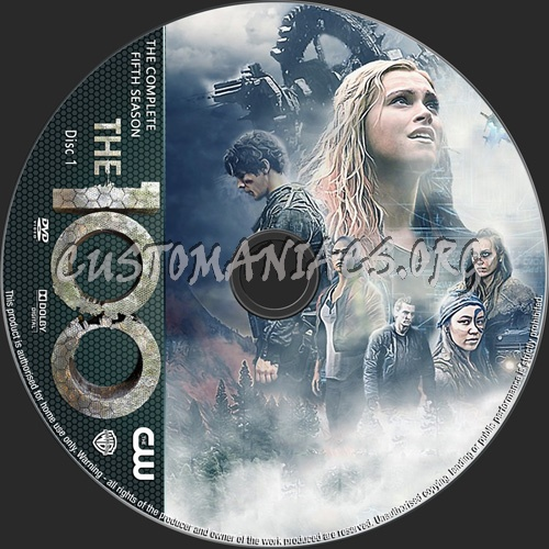 The 100 Season 5 dvd label