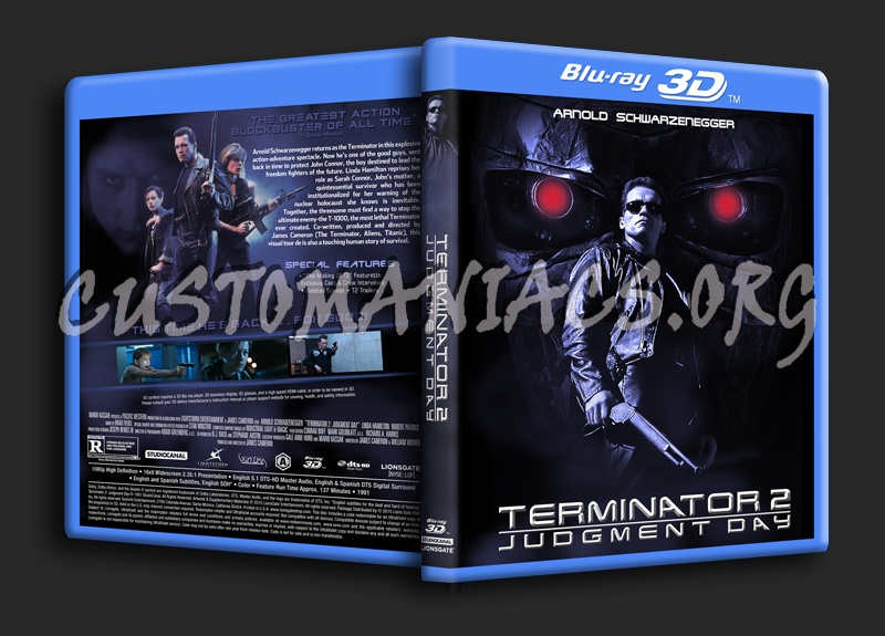 Terminator 2: Judgment Day 3D blu-ray cover