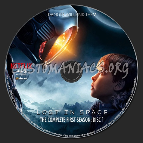 Lost in Space Season 1 blu-ray label