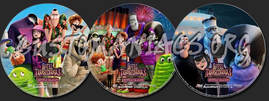 Hotel Transylvania 3: Summer Vacation dvd label