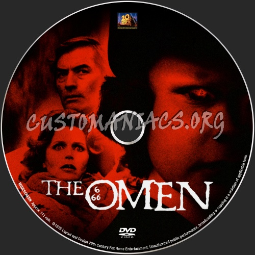 The Omen 1976 dvd label