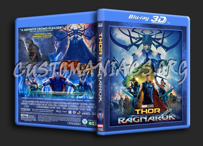 Thor: Ragnarok 3D blu-ray cover