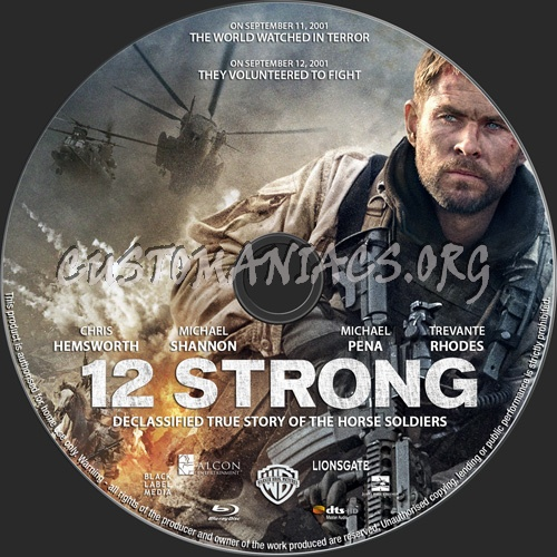 12 Strong blu-ray label