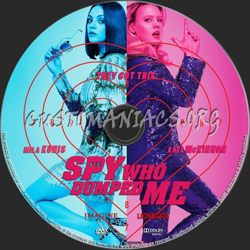 The Spy Who Dumped Me dvd label