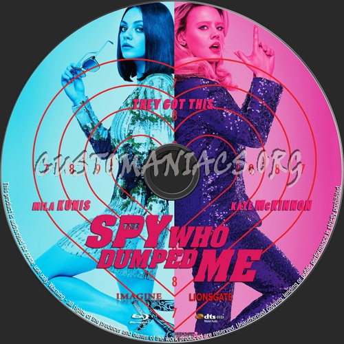 The Spy Who Dumped Me blu-ray label