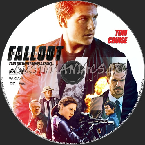 Mission Impossible Fallout dvd label