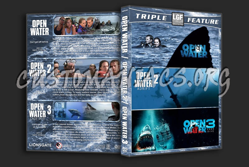 Open Water Triple Feature dvd cover