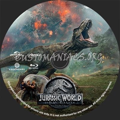 Jurassic World Fallen Kingdom blu-ray label