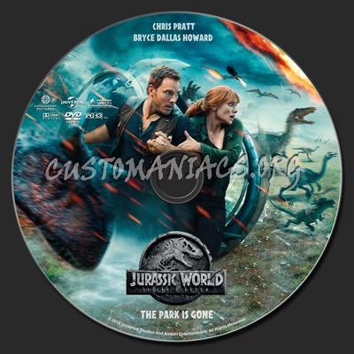 Jurassic World: Fallen Kingdom dvd label