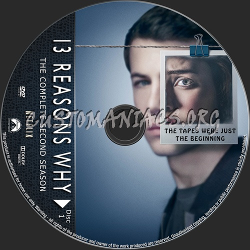 13 Reasons Why Season 2 dvd label