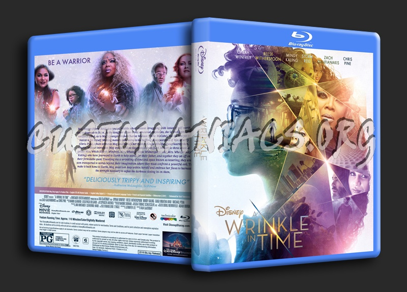 A Wrinkle In Time (2018) blu-ray cover