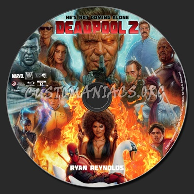 Deadpool 2 blu-ray label