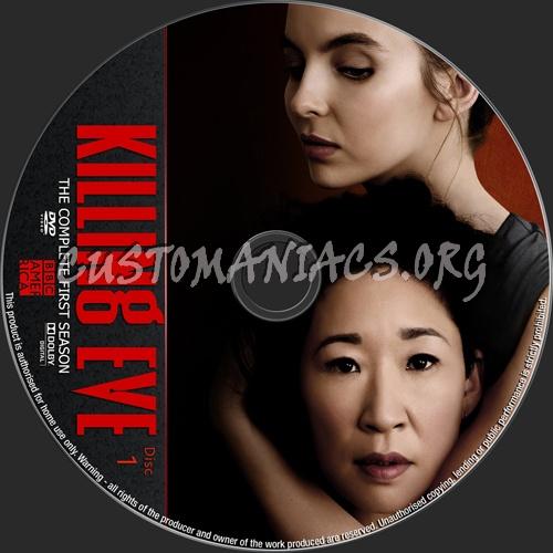 Killing Eve Season 1 dvd label