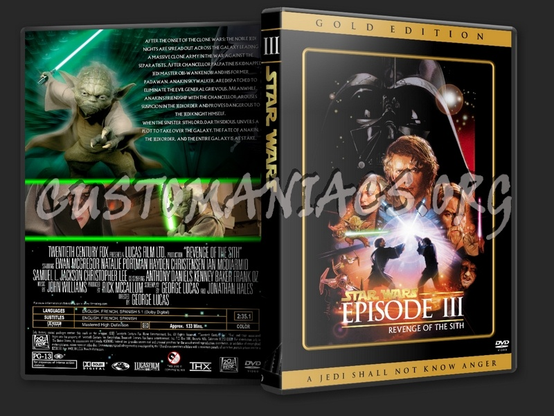 Star Wars Episode 3 Dvd Cover Dvd Covers Labels By Customaniacs Id 41668 Free Download Highres Dvd Cover