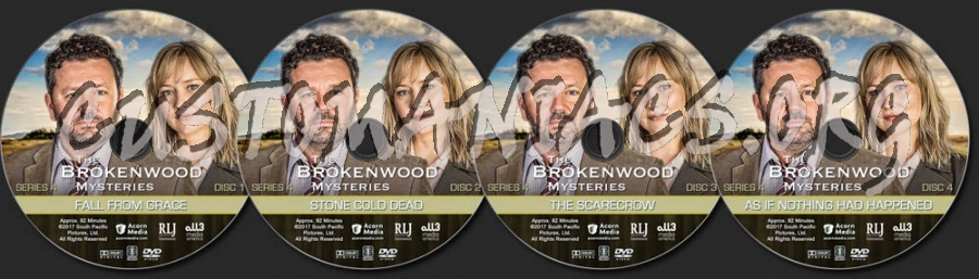 The Brokenwood Mysteries - Series 4 dvd label