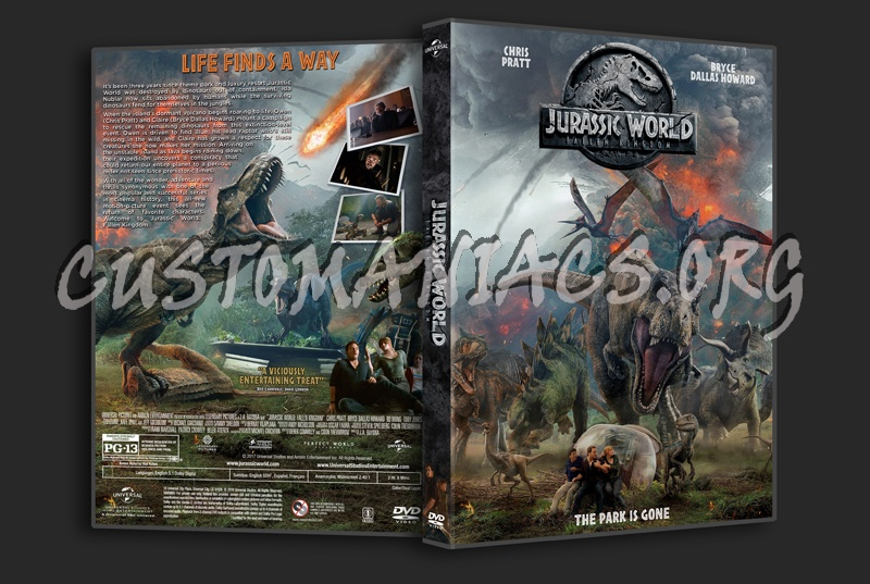 Jurassic World: Fallen Kingdom dvd cover