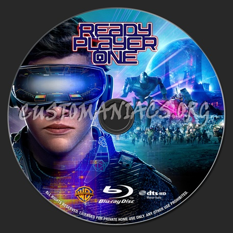 Ready Player One blu-ray label