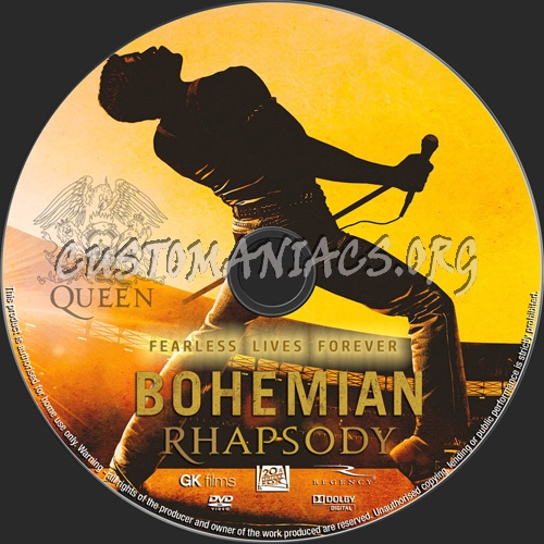 Bohemian Rhapsody dvd label