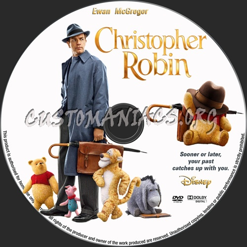 Christopher Robin dvd label