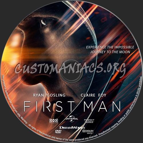 First Man dvd label