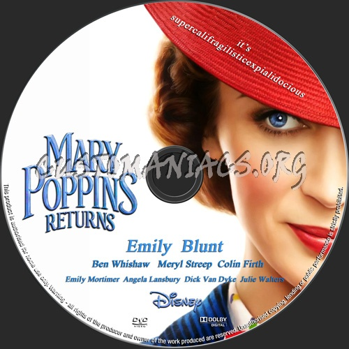 Mary Poppins Returns dvd label