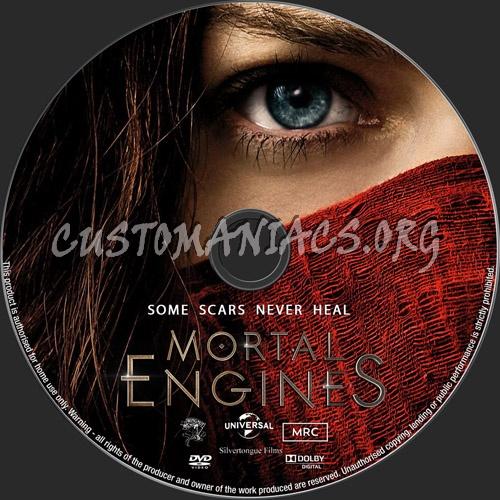 Mortal Engines dvd label