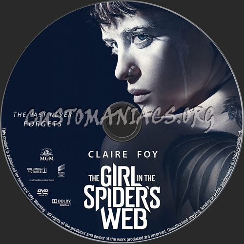 The Girl In The Spider's Web dvd label