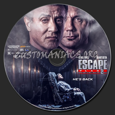 Escape Plan 2: Hades dvd label