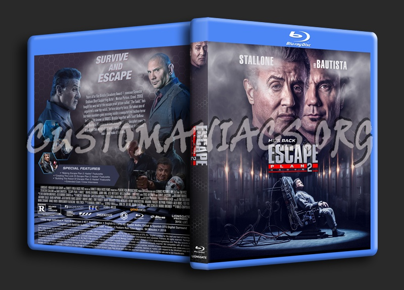 Escape Plan 2: Hades blu-ray cover