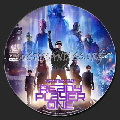 Ready Player One (2D & 3D) blu-ray label