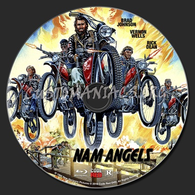 Nam Angels (1989) blu-ray label