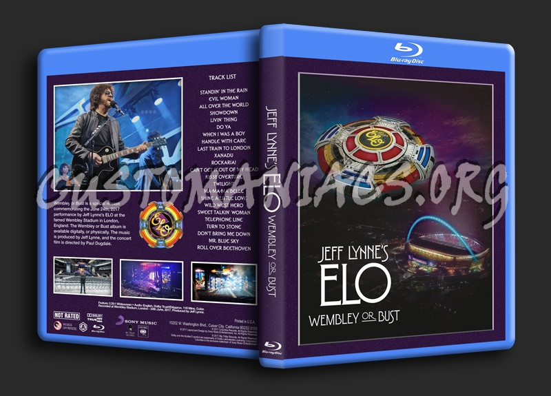 Jeff Lynne's ELO: Wembley Or Bust blu-ray cover
