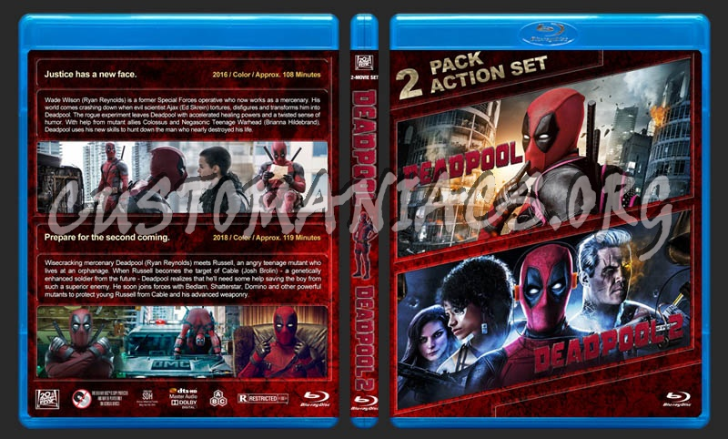 Deadpool Double Feature blu-ray cover