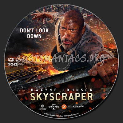 Skyscraper dvd label