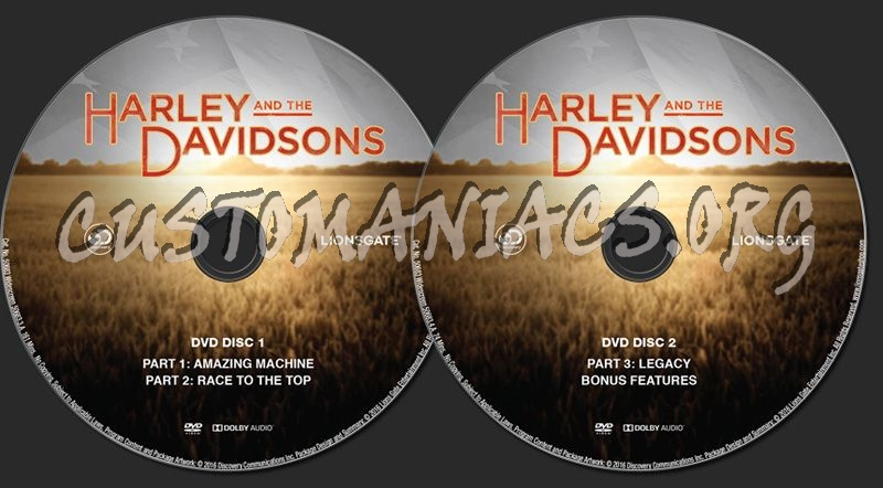 Harley and the Davidsons dvd label